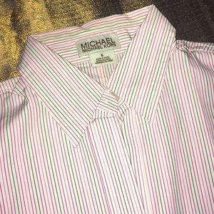 🆕Michael Kors botton down stripe shirt in Sz 6.